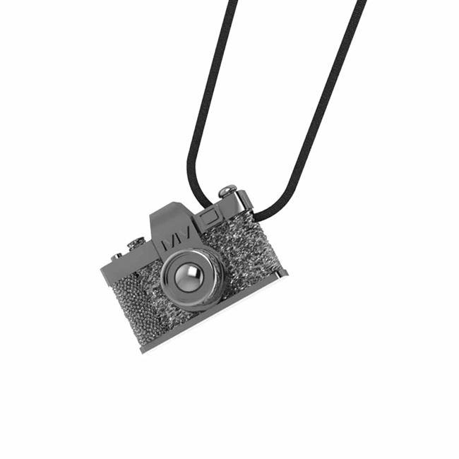 afcc69fc84d MARINA VERNICOS COLLECTION Silver Camera Necklace   Necklaces